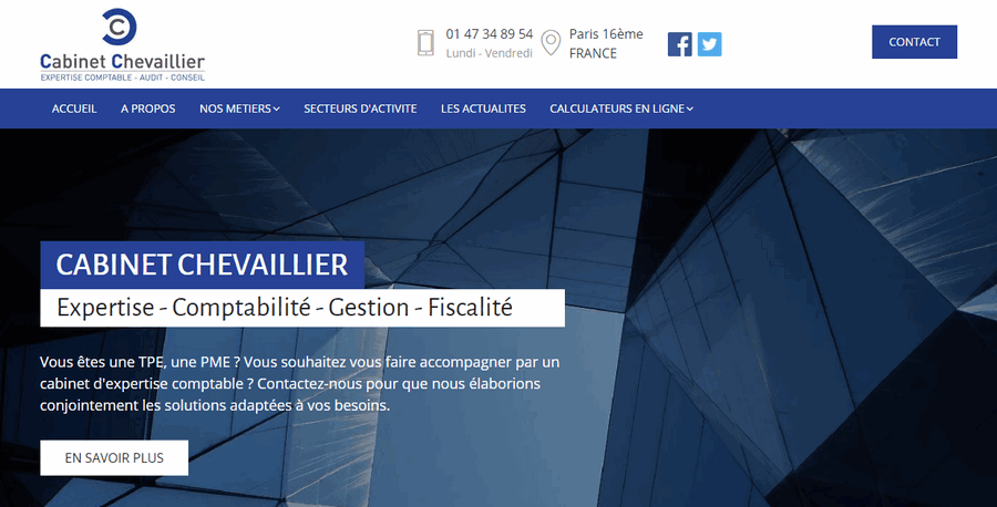 CABINET CHEVAILLIER, expertise comptable Paris 16